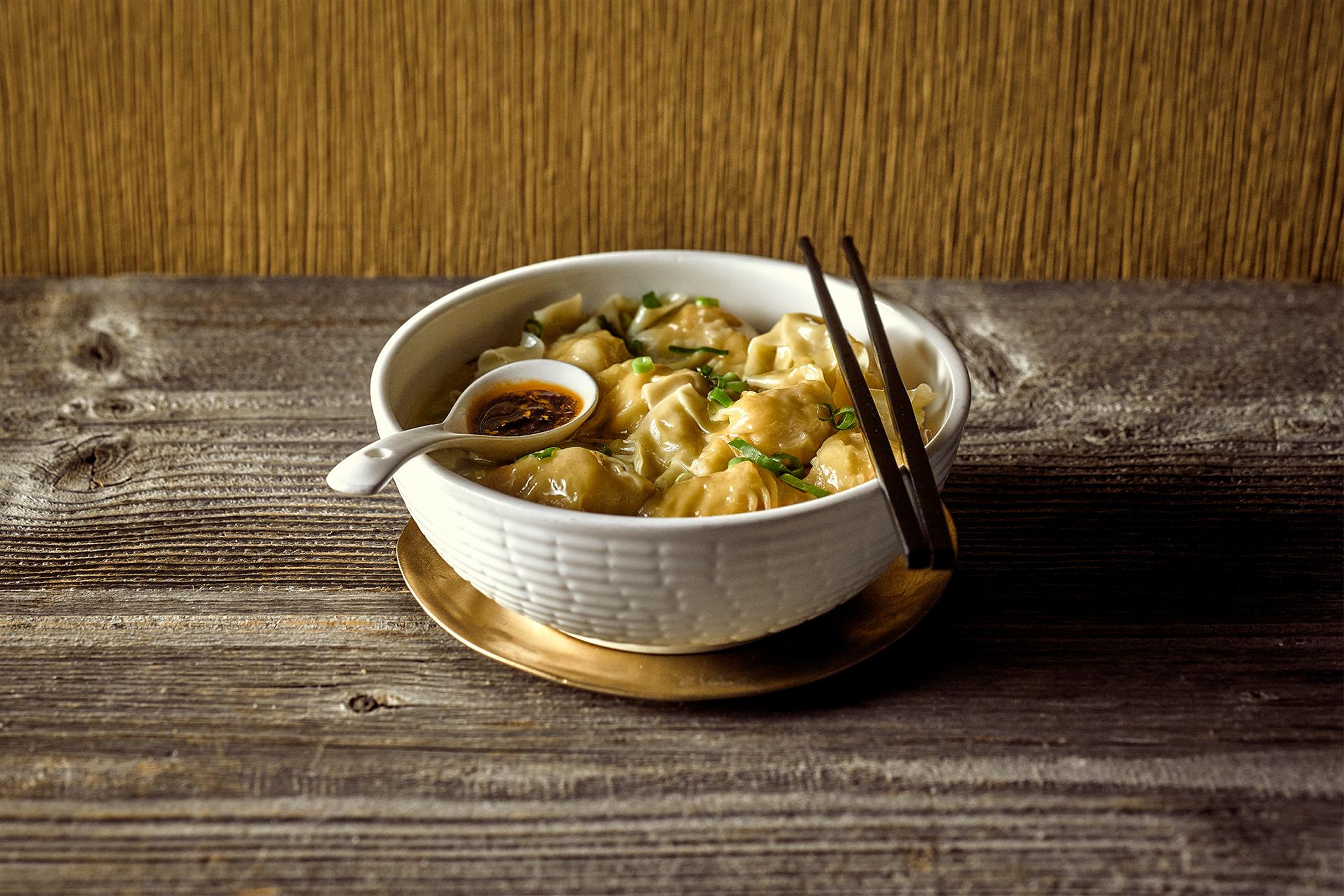 Shui kau noodle soup